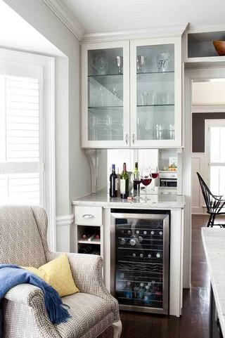 现代简约风格卫生间三层别墅乐活厨房和餐厅装修效果图