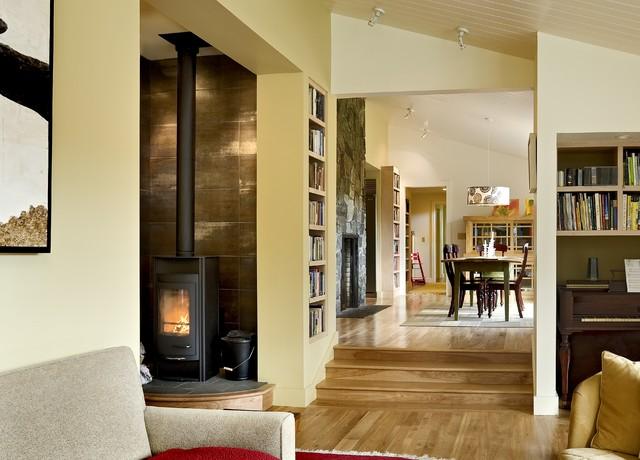 美式乡村风格卧室三层独栋别墅舒适米色效果图