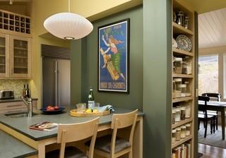 美式乡村风格卧室三层别墅及舒适客厅和餐厅的装修