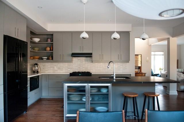 现代简约风格卧室2014年别墅稳重欧式开放式厨房装修