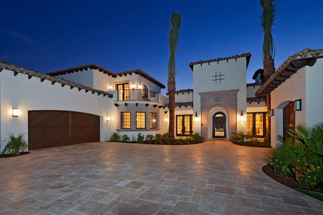 地中海风格卧室三层平顶别墅温馨装饰暖色调装修图片