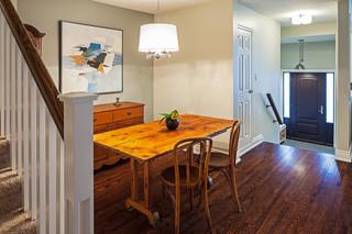 现代简约风格卫生间一层半小别墅客厅简洁厨房餐厅一体效果图