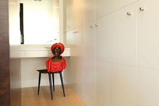 新古典风格客厅300平别墅白色橱柜装修效果图