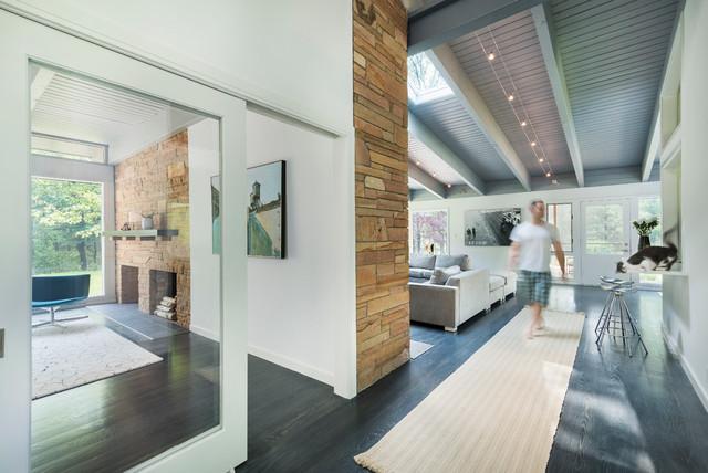 美式风格一层半别墅唯美办公室玄关装潢