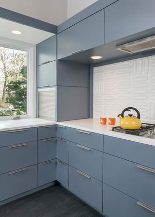 美式风格200平米别墅唯美开放式厨房餐厅装修效果图