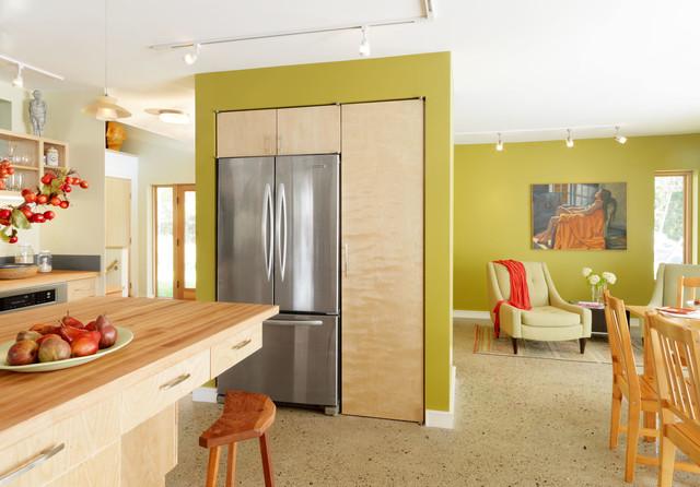 现代简约风格客厅三层双拼别墅梦幻半开放式厨房装修