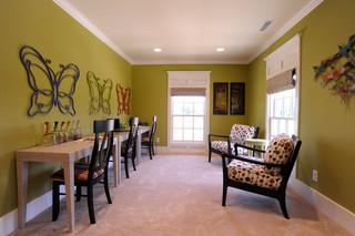 现代简约风格三层别墅米黄色效果图