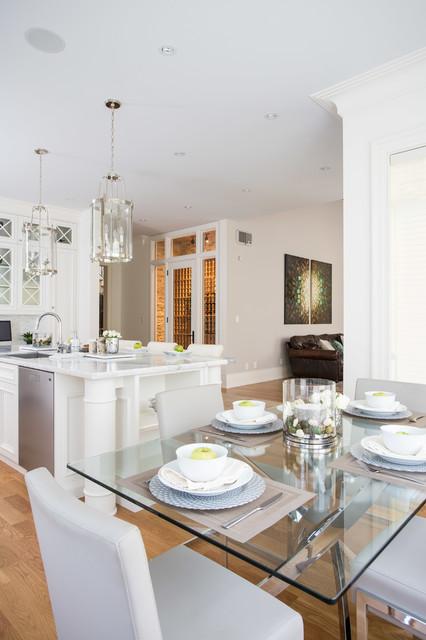 现代简约风格三层小别墅稳重客厅与餐厅隔断设计图纸
