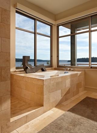 现代简约风格卫生间三层别墅民族风开放式厨房客厅装潢