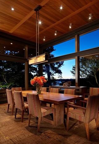 现代简约风格餐厅一层别墅及民族风客厅与餐厅灯设计图