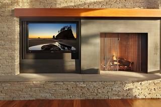 现代简约风格厨房一层别墅及民族风效果图