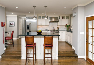 现代简约风格客厅2013年别墅稳重开放式厨房餐厅装修效果图