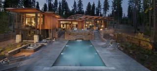 新古典风格客厅三层独栋别墅低调奢华别墅游泳池设计图纸