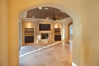 混搭风格200平米别墅现代奢华暖色调装修效果图