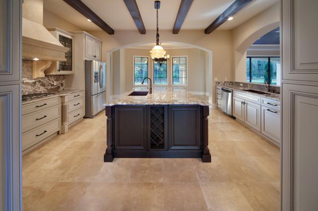 混搭风格客厅一层半小别墅欧式奢华半开放式厨房装修图片