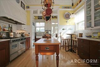 现代简约风格厨房三层连体别墅豪华室内开放式厨房吧台效果图