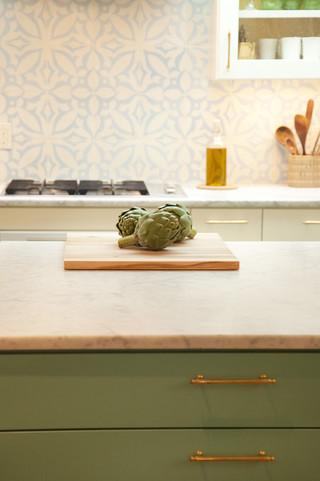 欧式风格家具3层别墅小清新开放式厨房客厅效果图