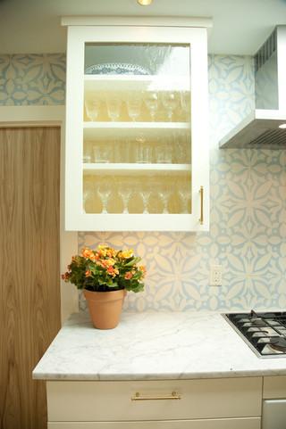 欧式风格客厅三层小别墅小清新开放式厨房餐厅效果图