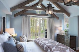 欧式风格家具三层连体别墅浪漫婚房布置7平方卧室效果图