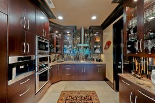 欧式风格一层半小别墅舒适小户型开放式厨房装修效果图