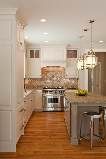 现代简约风格厨房三层半别墅乐活开放式厨房客厅装修图片