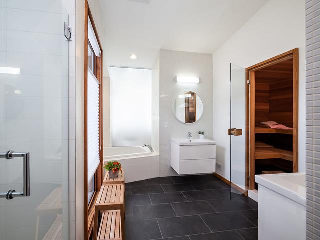 现代简约风格三层别墅及小清新客厅进门玄关装修效果图