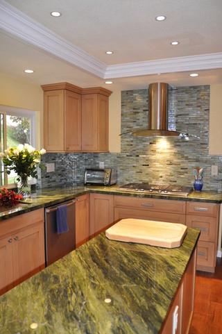 新古典风格300平别墅开放式厨房餐厅装修效果图