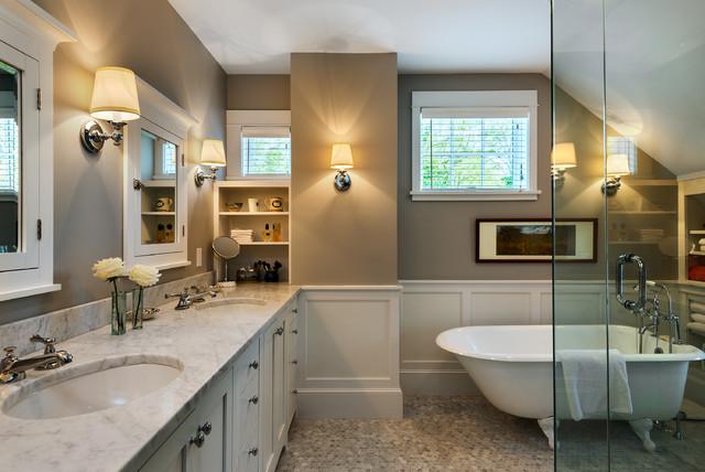 欧式风格卧室三层独栋别墅小清新整体卫浴设计
