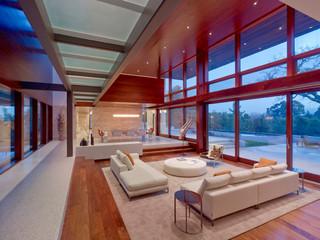 现代简约风格卫生间一层别墅及原木色家居装修效果图