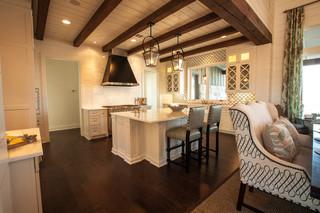 现代美式风格300平别墅客厅古典2014家装厨房装修效果图