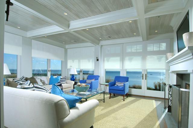 地中海风格卧室三层半别墅简洁卧室蓝色卧室设计图