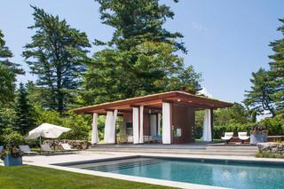 地中海风格三层小别墅客厅简洁别墅游泳池改造