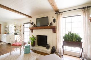 北欧风格卧室一层别墅及舒适白色欧式家具装修图片