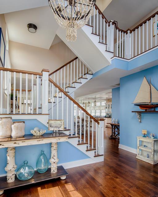 地中海风格客厅200平米别墅艺术别墅楼梯设计图装修效果图