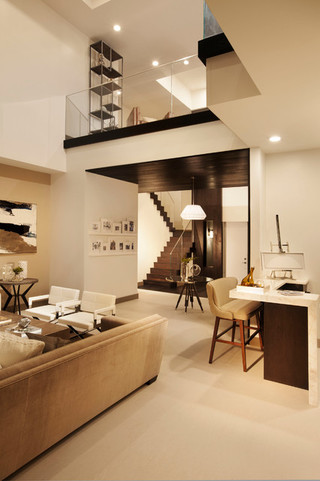 现代欧式风格三层平顶别墅奢华家具卧室客厅隔断设计图纸