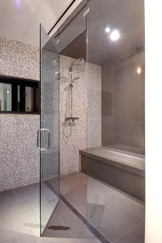 欧式风格卧室2013别墅及大气灰色窗帘装修图片