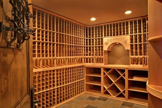 地中海风格卧室一层别墅欧式奢华品牌酒柜效果图