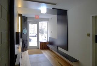 现代简约风格客厅三层小别墅时尚中式家装玄关效果图