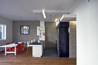 现代简约风格卧室2层别墅时尚2013家装厨房效果图