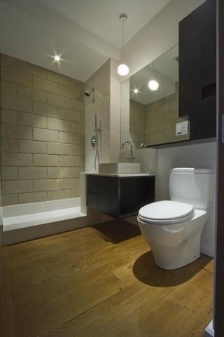 现代简约风格卧室三层平顶别墅时尚衣柜卫生间淋浴房安装图