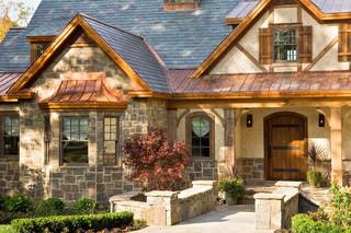 美式乡村风格客厅三层双拼别墅浪漫卧室庭院围墙设计图纸