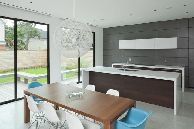美式风格卧室三层小别墅现代时尚客厅厨房餐厅客厅一体装修图片