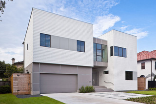 美式风格三层别墅时尚片庭院围墙改造