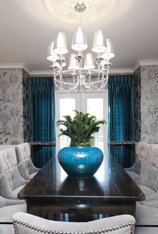 美式风格卧室三层别墅梦幻家具厨房餐厅一体装修图片