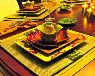 混搭风格客厅一层半别墅小清新红木家具餐桌图片