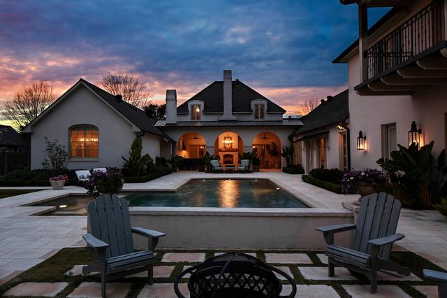 地中海风格200平米别墅客厅豪华别墅游泳池装修效果图