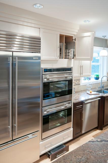 现代美式风格2层别墅欧式豪华整体橱柜设计图
