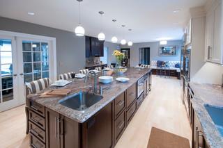 美式风格3层别墅豪华客厅2013家装厨房改造