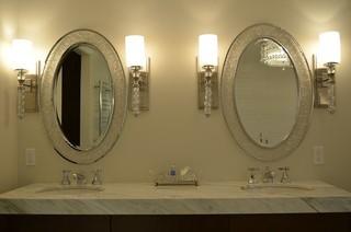 欧式风格家具2层别墅浪漫婚房布置米色设计图