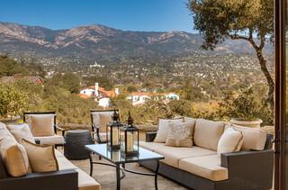 美式风格客厅一层别墅浪漫卧室露台花园装潢